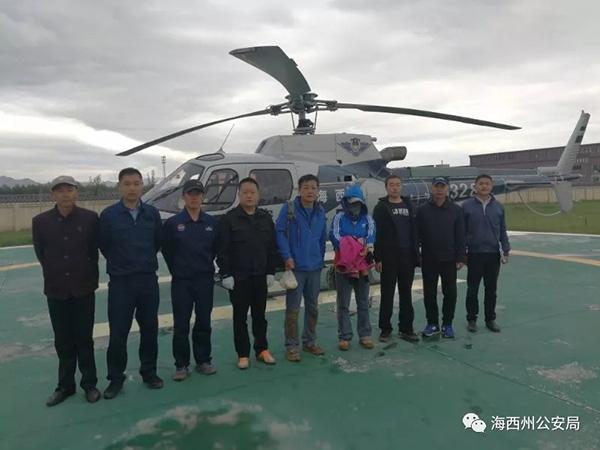 青海海西警方地空立体式搜索,13小时解救2名被困戈壁游客