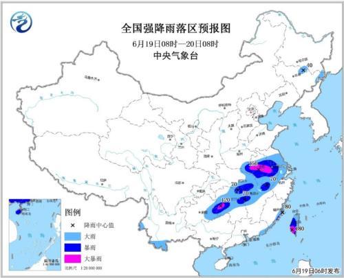 暴雨黄色预警公布 江汉黄淮等地局部地域有大到暴雨