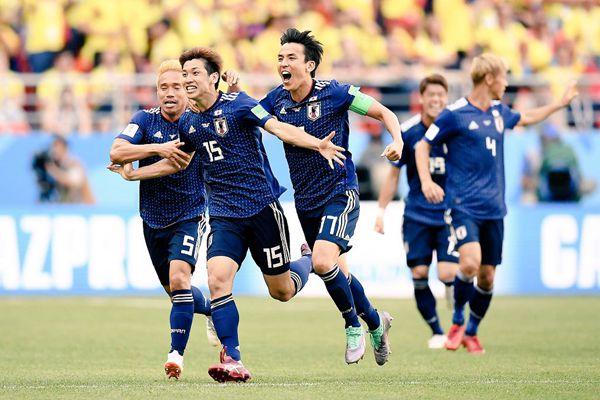 俄罗斯世界杯H组:日本队2:1战胜哥伦比亚队