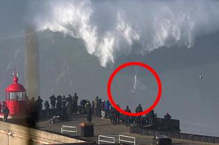 英勇冲浪者葡萄牙征服世界最大巨浪展绝技