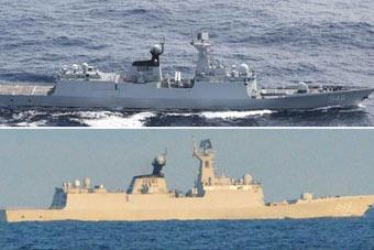 我军战舰三次进出宫古海峡均遭日本尾随
