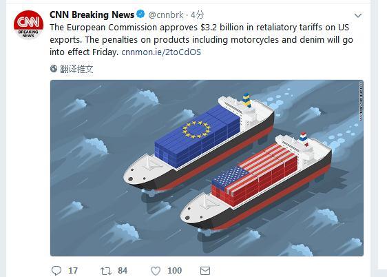 价值约32亿美元!欧盟委员会批准对美商品征收报复性关税