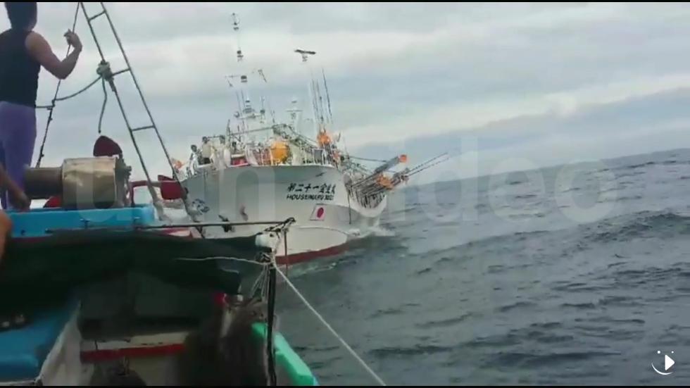 一艘台湾渔船在钓鱼岛海域被日渔船撞击 日船逃逸