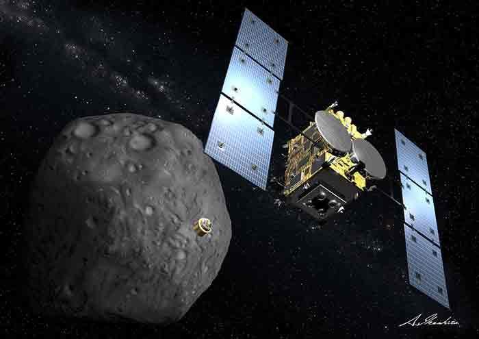 日本隼鸟2号探测器捕捉到近地小行星Ryugu近照