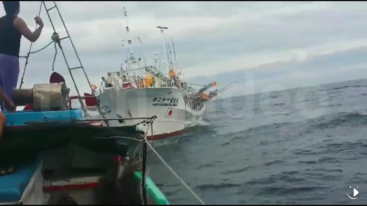 一台湾渔船在钓鱼岛海域被日本渔船撞击 日船肇逃