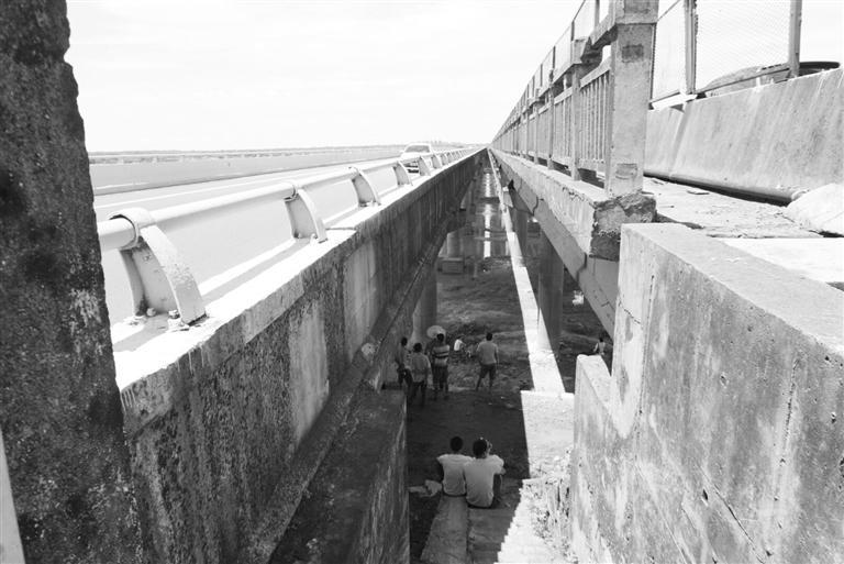 海口男子大桥超车道上被追尾,下车打电话求助时坠桥落江失踪