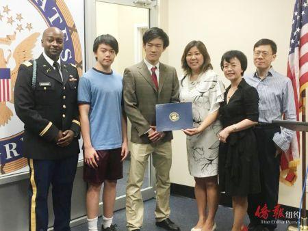 美国5名华裔学生被军校录取 国会议员举办表彰会