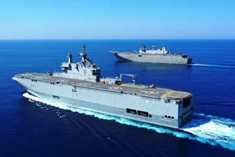 """""""双航母""""出击!埃及与西班牙海上军演大秀武力"""