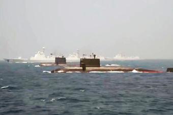 """中国海军最强水面与水下战力""""组团""""亮相"""