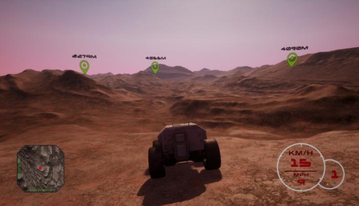 这款VR火星车模拟《红色漫游者》使用真实火星地形图