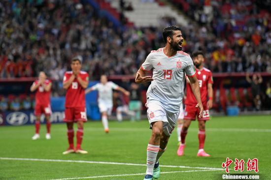 迭戈科斯塔打入幸运进球!西班牙1-0艰难战胜伊朗