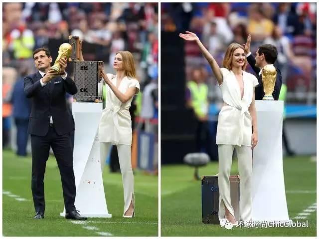 世界杯开幕式上为什么娜塔莉沃佳诺娃能捧起大力神杯