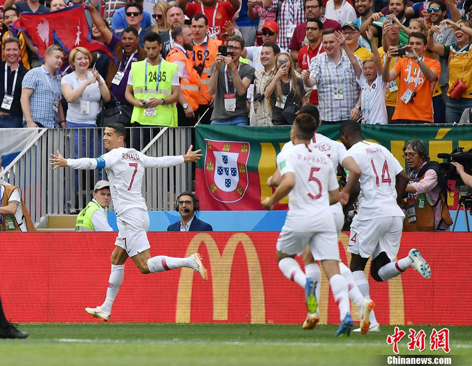 C罗俯身冲顶连场破门 摩洛哥0-1负葡萄牙提前出局