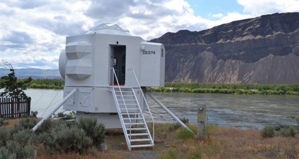 灵感来自于太空船 微型房屋带来舒适居住体验