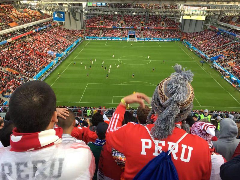 世界杯花絮:环球网网友亲历叶卡捷琳堡体育场球迷热情氛围