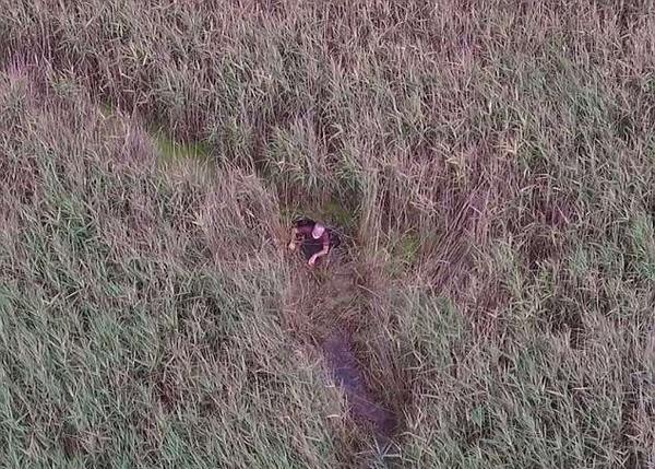 美一75岁男子被困沼泽地 无人机成功定位帮助救援