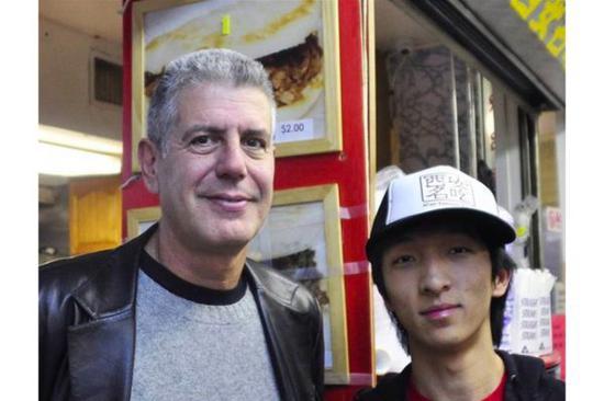 """波登与""""西安名吃""""的老板 Jason Wang"""