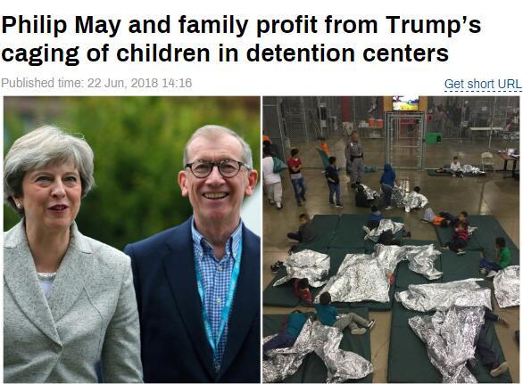 """特朗普建""""骨肉分离""""拘留所大资本集团受益 英首相丈夫牵涉其中"""