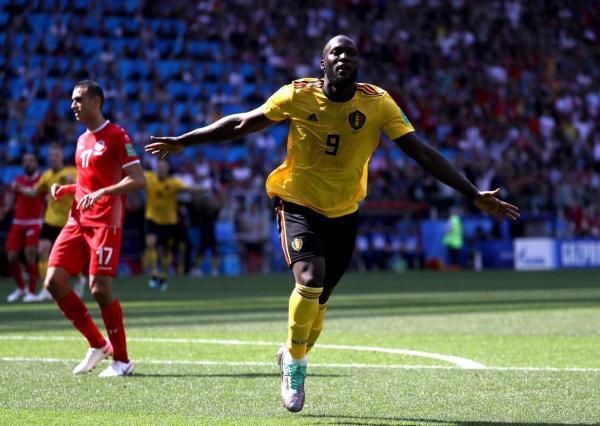 比利时5比2血洗突尼斯,看看卢卡库的进球效率C罗颤抖了吗