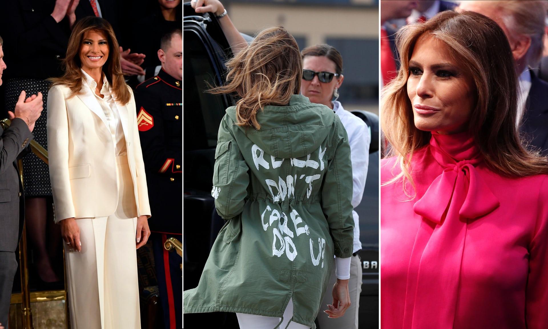 """美国""""第一夫人""""乱穿衣遭批:原来她在向特朗普传递这样的信息"""