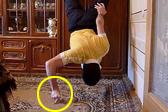 亚美尼亚健身达人仅靠两根手指做俯卧撑