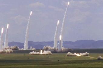 东风快递!火箭军多款导弹齐发呼啸而出