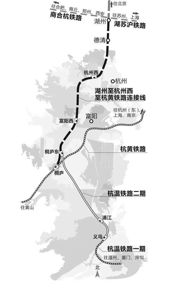 湖州至杭州新建高铁公示:连接杭黄高铁,时速350公里