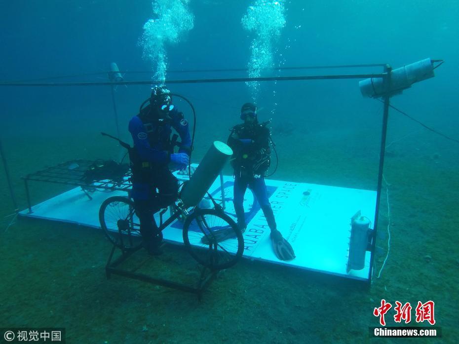 约旦男子完成48小时潜水 欲挑战海底停留6天世界纪录