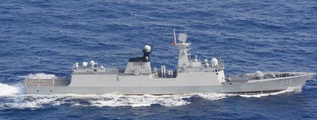 解放军益阳舰绕台航行 台军声称