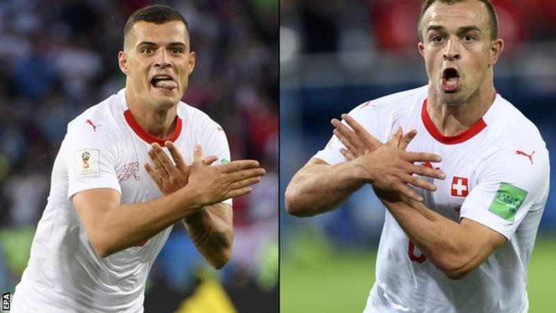 瑞士球员做出争议性庆祝动作后  国际足联判定罚款不禁赛