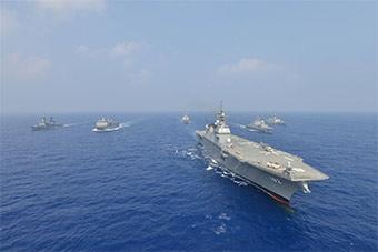 日本很自豪:环太军演各国在日准航母上首次会晤