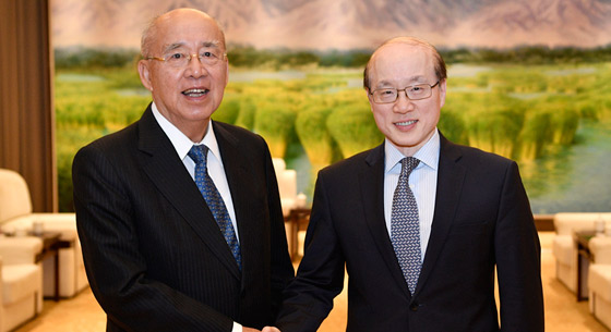 刘结一会见中国国民党前主席吴伯雄