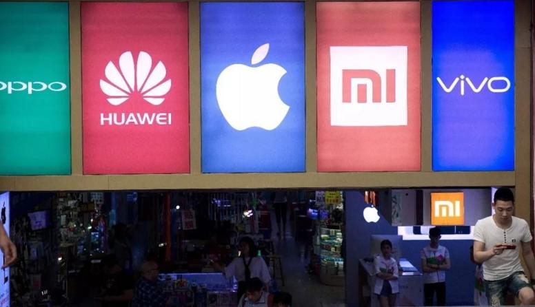 全球12大智能手机生产商中国企业占9席 华为第三