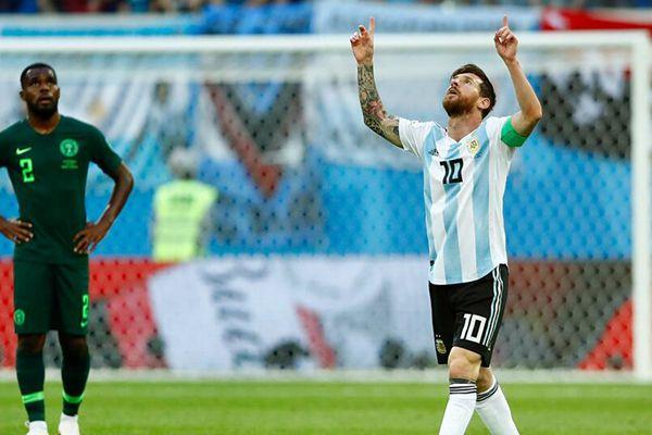 梅西罗霍建功!阿根廷2-1险胜尼日利亚出线