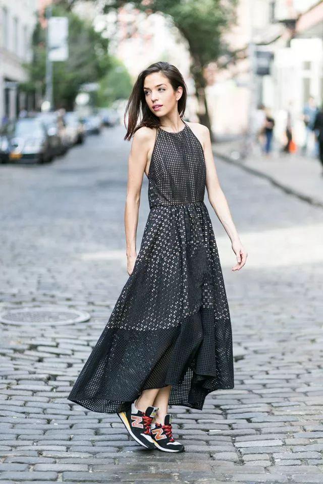 女生+平底鞋这样穿,夏天就是美得不一样!哪个裙子哈弗开图片
