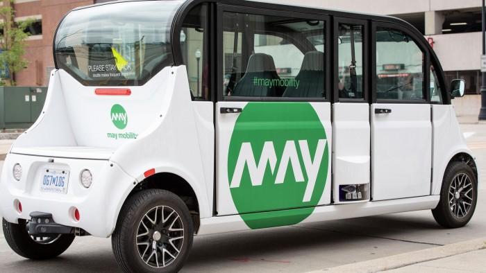 美国底特律现首个商业自动驾驶电动班车服务