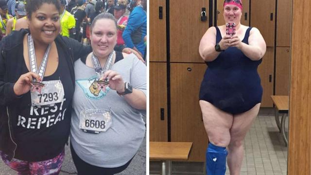 260斤女子打破女子马拉松参赛者体重最重纪录