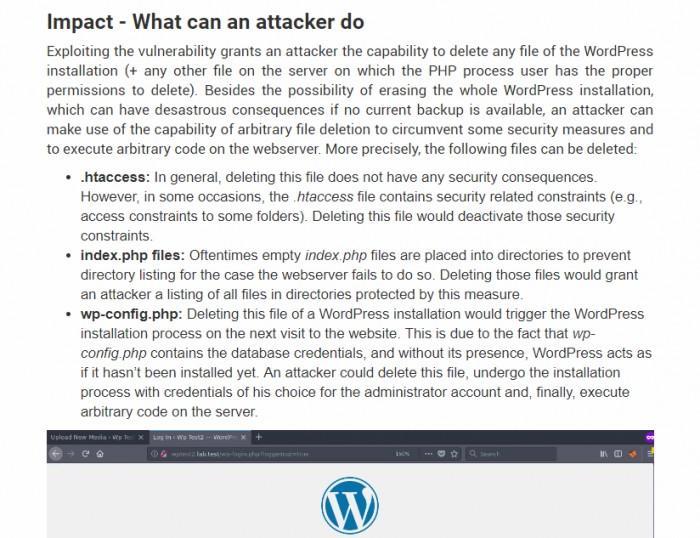 WordPress曝任意文件删除漏洞 过了半年还未修复