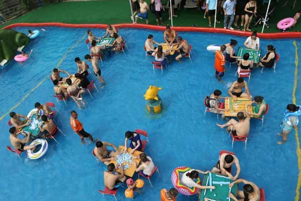 重庆水上麻将消暑比赛吸引民众参与