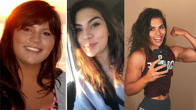 体重近300斤胖妞意外发现举重技能 3年健身成美女