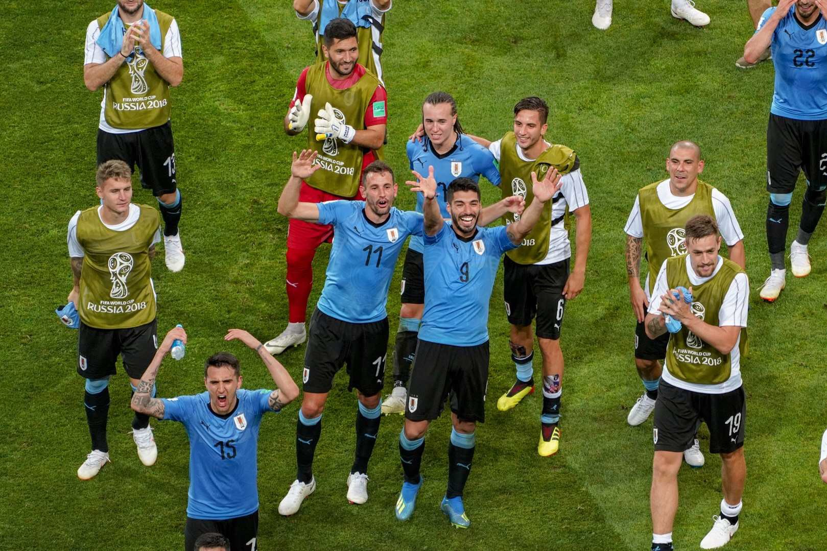 赛后花絮:乌拉圭2-1葡萄牙 欢庆与离去同场上演