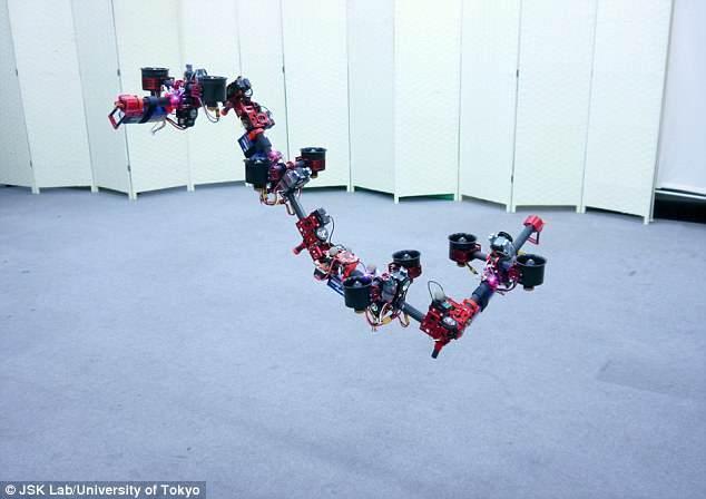 中日打造飞行机器人,能够在飞行过程自由变形