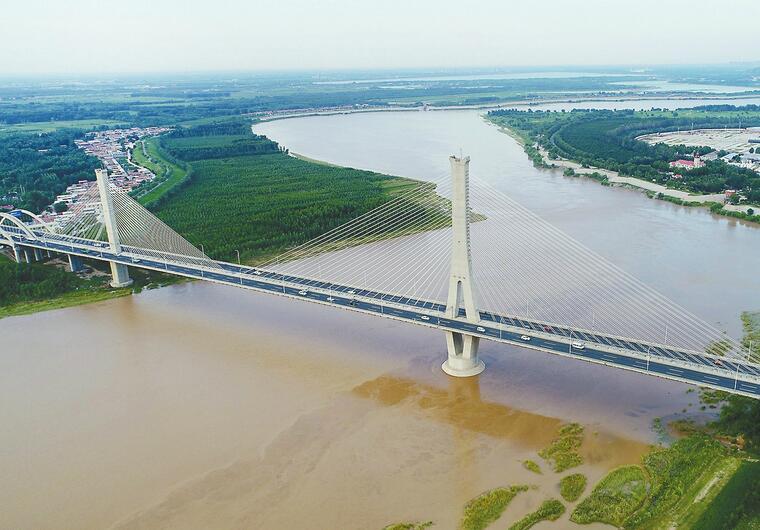 华北强降雨黄河水暴涨