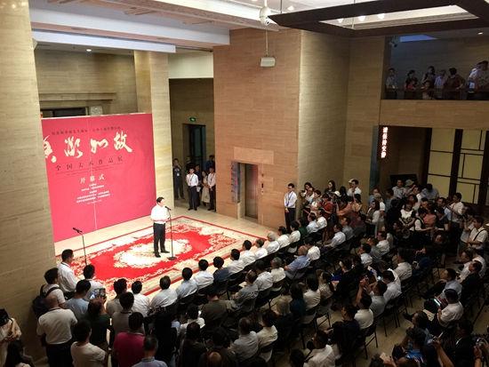 """首届""""香凝如故""""全国美术作品展在中国美术馆开幕"""