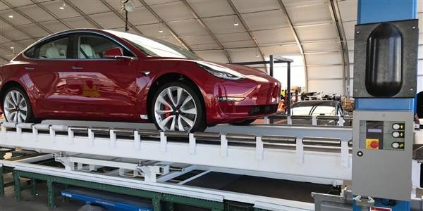 马斯克宣布:Model 3已实现周产量5000辆目标