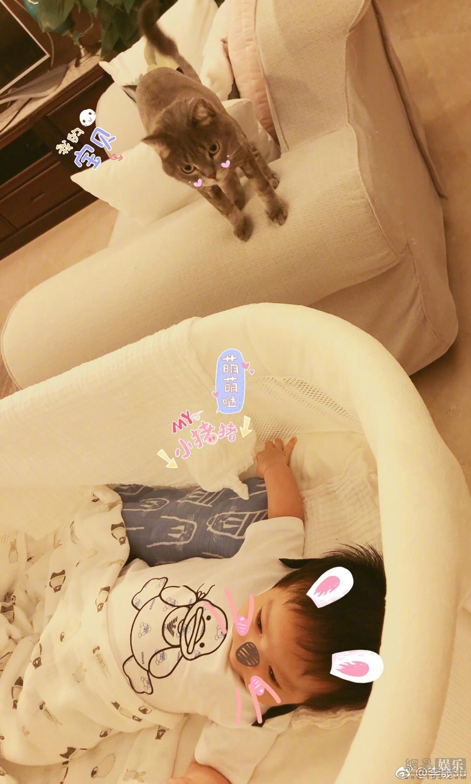 李晟首次公开儿子正面照 宝宝软萌可爱