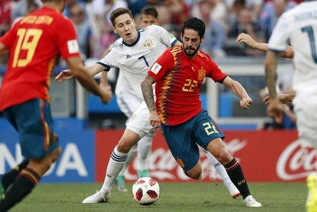 西班牙爆冷出局 俄罗斯5:4胜西班牙