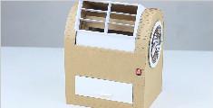 夏天来了,教你如何用纸板做一个简易的冰吹风机