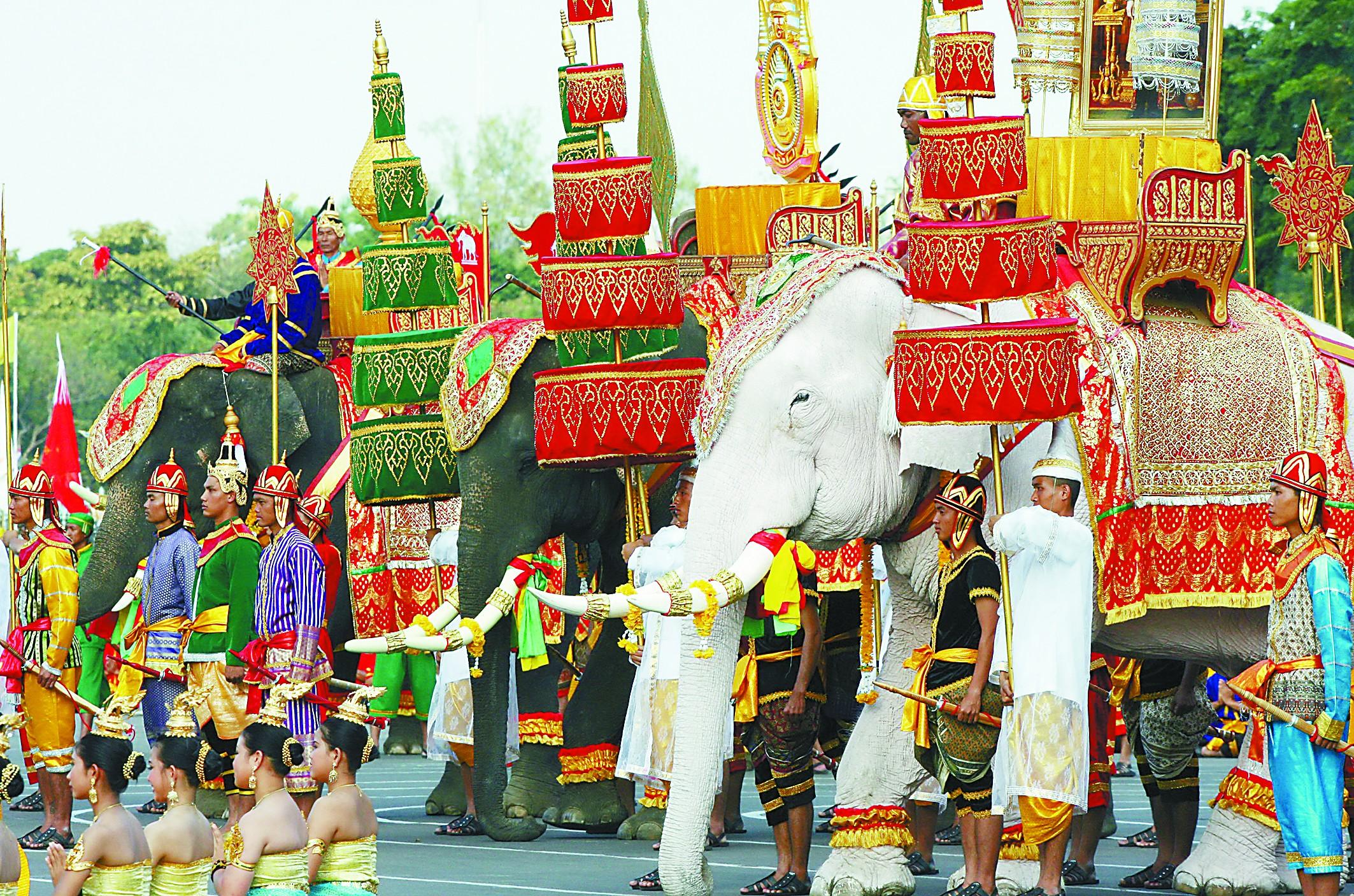 泰国视白象为镇国瑞兽