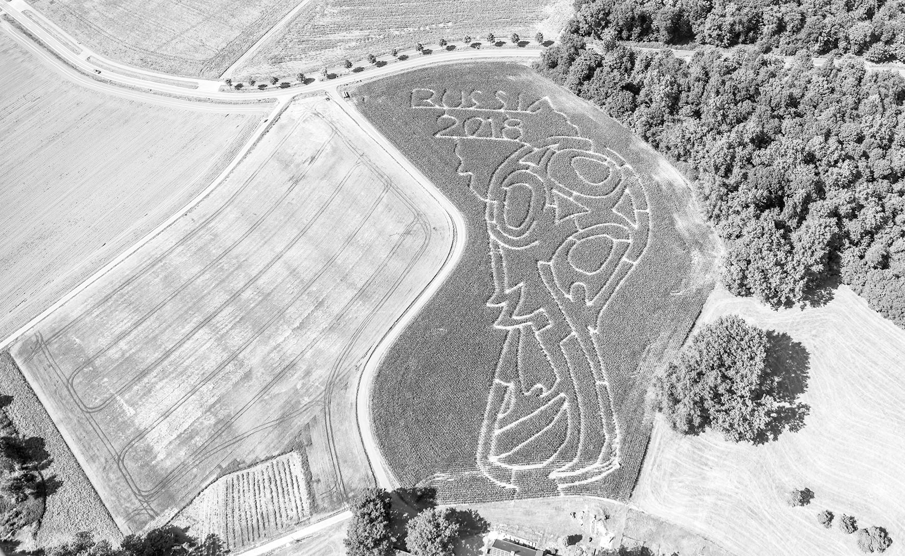 图片新闻:世界杯迷宫